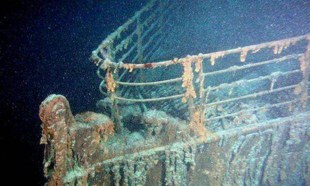 """Ein Blick auf das Schiffswrack der """"Titanic""""."""
