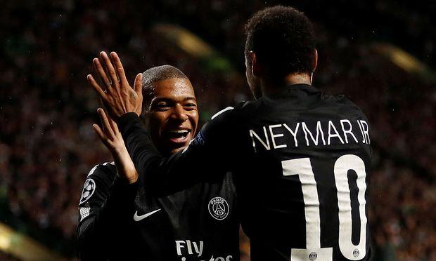 Neymar und Kylian Mbappé