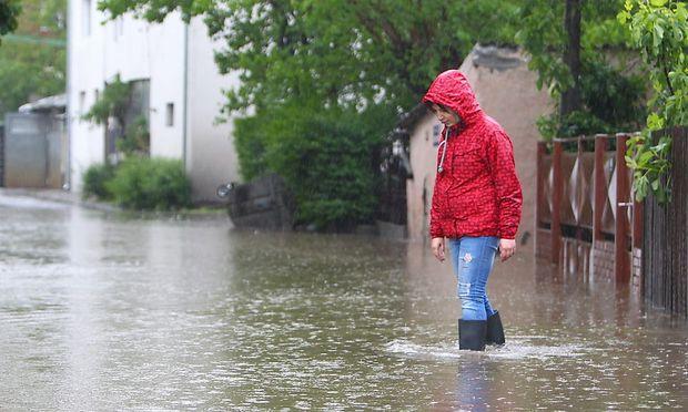 Starke Regenfälle haben in Serbien zu Überschwemmungen geführt.