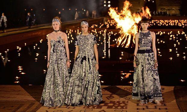 Die Resort 2020 Kollektion des Modehauses Dior wurde in Marokko gezeigt.