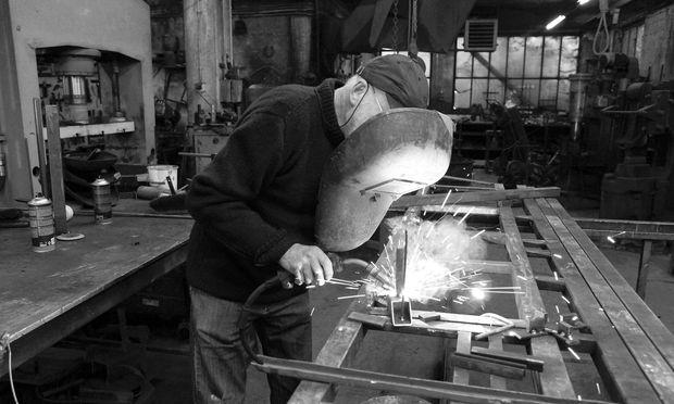 Peter Bruckner bei der Arbeit.