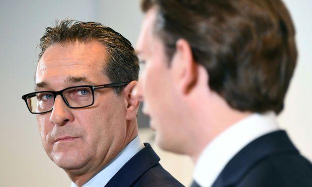 FPÖ-Chef Strache und ÖVP-Chef Kurz