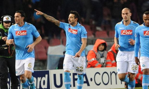 Napoli jubelte über zwei Tore von Lavezzi.