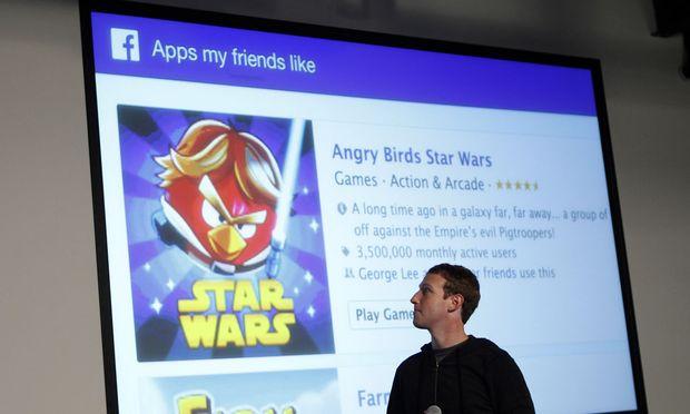 Facebook: Mark Zuckerberg bei einer Präsentation