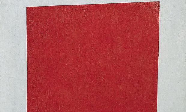 Symbolbild: ''Rotes Quadrat'' in der Malewitsch Ausstellung im Kunstforum