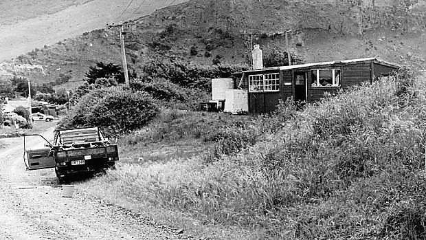 Das Haus von David Gray nahe des Meeres bei Aramoana