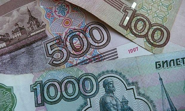 Russland, St. Petersburg, russische Rubel