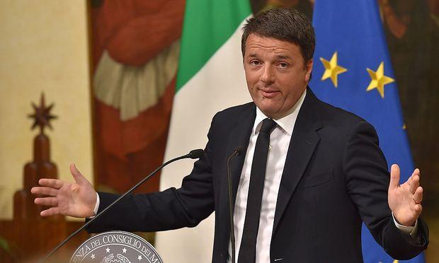 Ein geschlagener Matteo Renzi