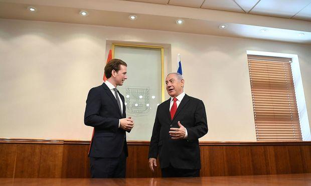 Sebastian Kurz traf Benjamin Netanjahu in Jerusalem.