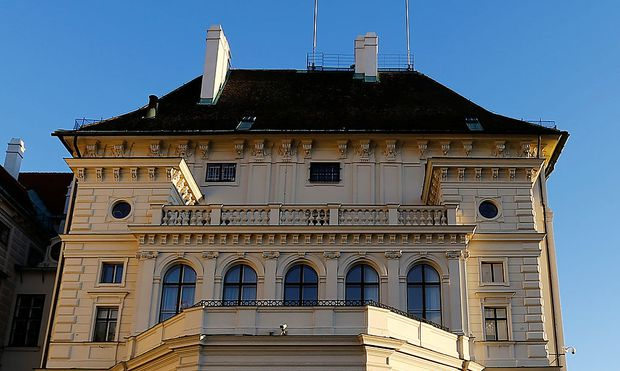 The Leopoldine Wing of Hofburg Palace hosting the presidential office is seen in Vienna