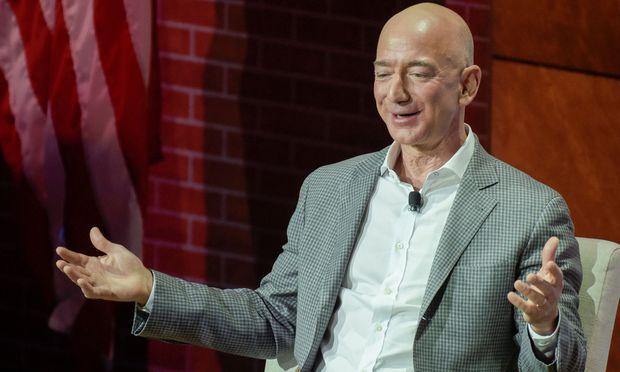 Jeff Bezos of Amazon speaks at the Bush Center's Forum on Leadership in Dallas