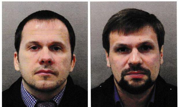 """""""Alexander Petrov"""" und der zweite Verdächtige im Fall Skripal """"Ruslan Boschirow""""."""