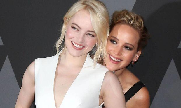 HOLLYWOOD CA NOVEMBER 11 Emma Stone Jennifer Lawrence at the AMPAS 9th Annual Governors Awards at th