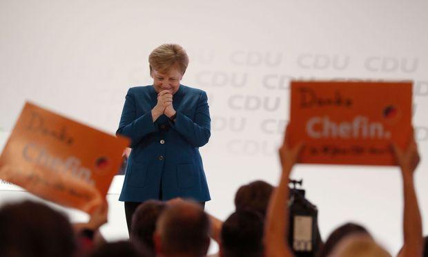 Angela Merkel bei ihrer letzten Rede als CDU-Chefin.