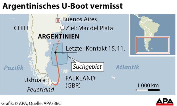 Suche nach argentinischen U-Boot weiterhin erfolglos