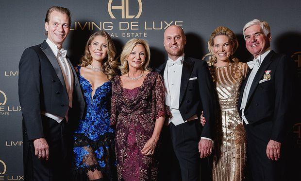 Werner Mürz, Victoria Swarovski, Ingrid Flick, Thomas Hopfgartner,Alexandra Swarovski und Michael Heinritzi.