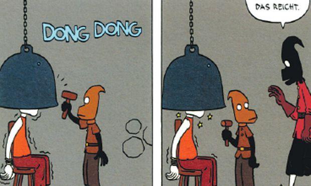 Comic heiteren Strafkolonie