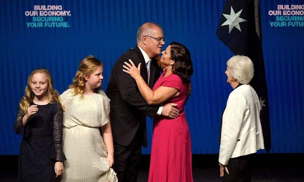 Der liberalkonservative australische Premier, Scott Morrison, ist mäßig beliebt, hat aber am Samstag die besseren Chancen.