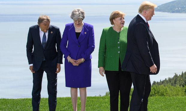 Tusk und May, Merkel und Trump: Zwischen den Angelsachsen und den Festland- Europäern herrscht dicke Luft.