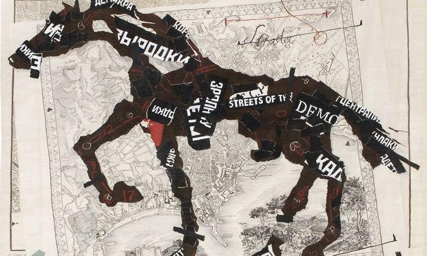 Kentridge gibt es auch als Tapisserie, auch der Webprozess ist eine Art bewegte Zeichnung.