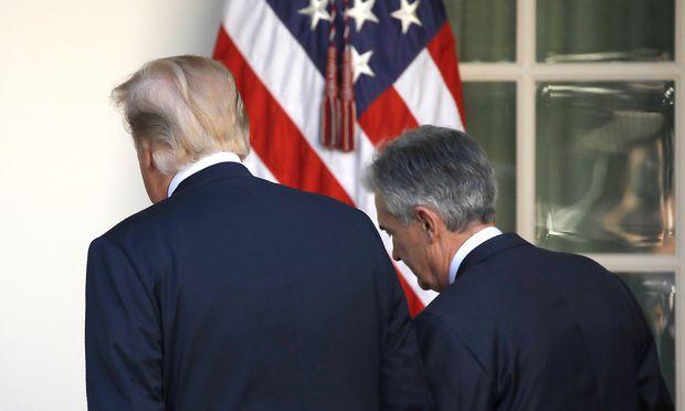 US-Präsident Donald Trump und Jerome Powell.