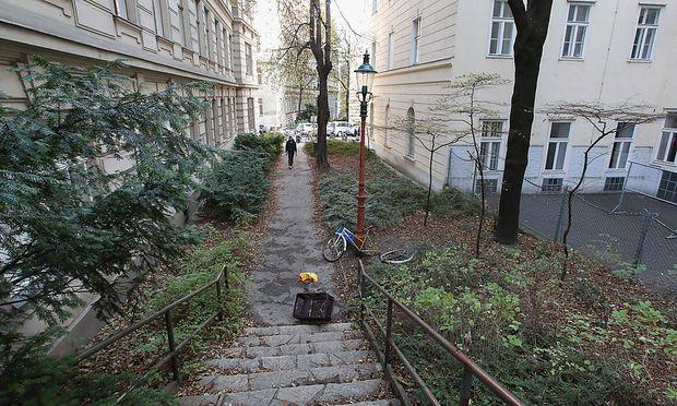 Dieser Verbindungsweg hätte nach Bertha Löwi benant werden sollen.