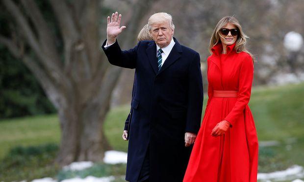 US-Präsident Trump mit seiner Ehefrau Melania