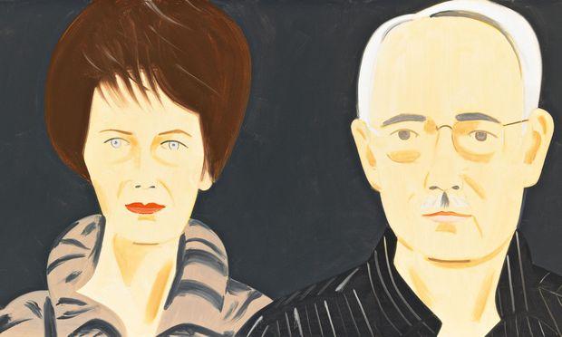 Die Sammler Agnes und Karlheinz Essl, gemalt von Alex Katz
