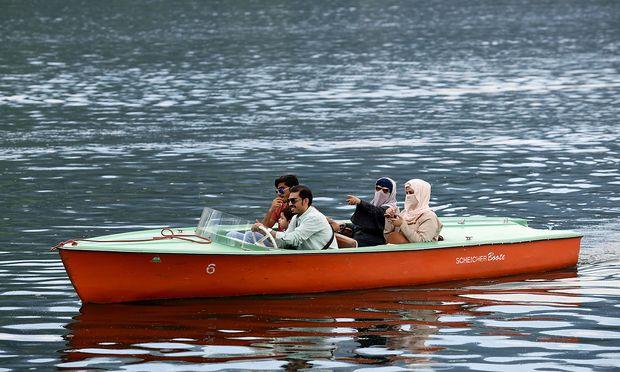 Arabische Touristen in Zell am See.