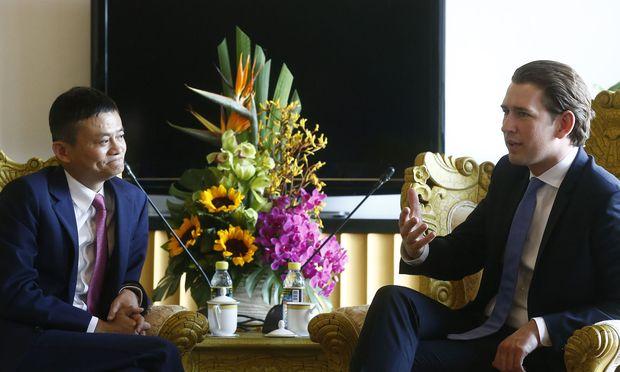 Alibaba-Chef Jack Ma und Kanzler Sebastian Kurz