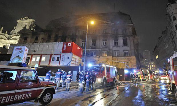 Brand ehemaliger BankAustriaZentrale Wien