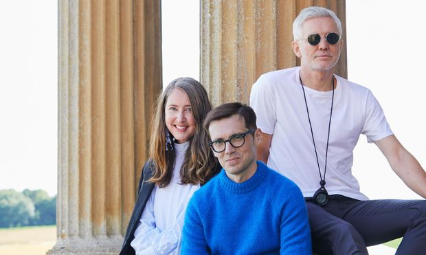 Ann-Sofie Johansson (H&M), Erdem Moralioğlu und Baz Luhrmann.