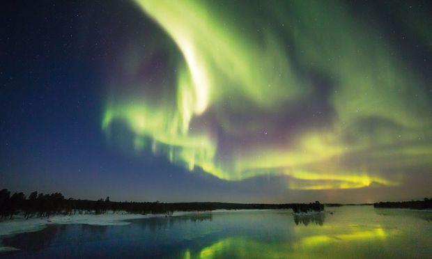 Nordlicht in Finnisch-Lappland