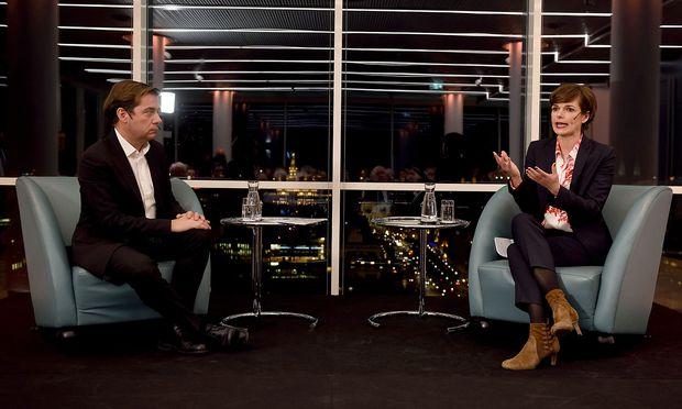 "SPÖ-Chefin Pamela Rendi-Wagner aund ""Presse""-Chefredakteur Rainer Nowak"