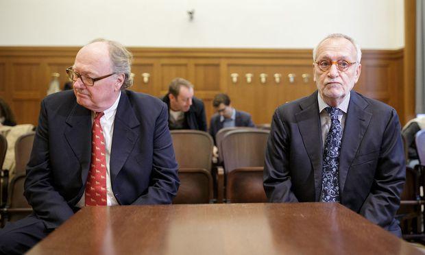 Lobbyist Alfons Mensdorff-Pouilly und der frühere Telekom-Vorstand Rudolf Fischer  / Bild: APA/GEORG HOCHMUTH