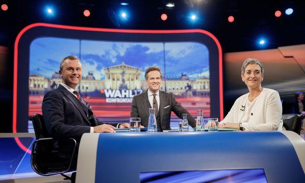 NR-WAHL: ORF-TV-DUELL DER SPITZENKANDIDATEN FP�-GR�NE