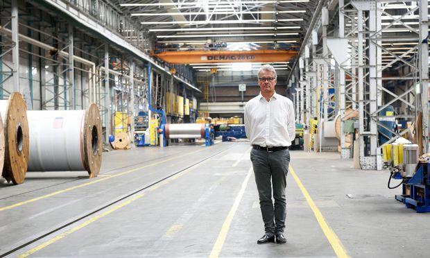 """Ohne Export ginge nichts. Würde Berndorf nur Österreich mit polierten Stahlbändern bedienen, """"würden wir vielleicht jedes zweite Jahr einen Umsatz machen"""", sagt Pichler."""