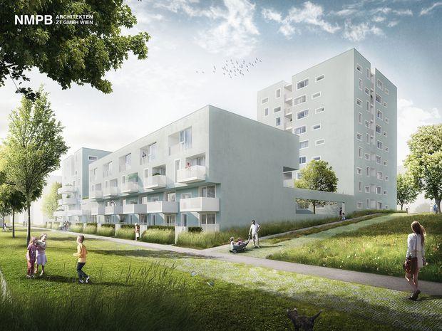 Visualisierung Fontanastraße 1, NMPB Architekten ZT GmbH Wien