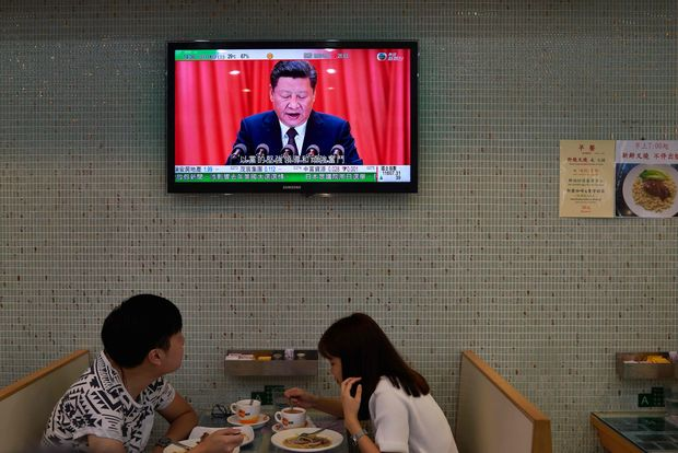 Rede von Xi Jinping zum Lunch in Hongkong.
