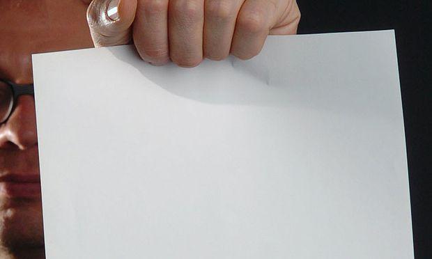 Leere beim Schreiben: Das weiße Blatt