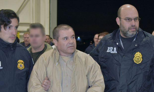 """Drogenboss Joaquín """"El Chapo"""" Guzmán droht lebenslange Haft"""