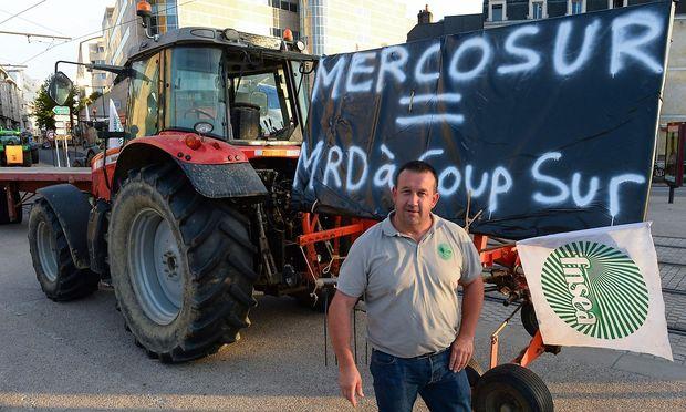 In Frankreich protestierten Bauern gegen den Freihandelspakt.