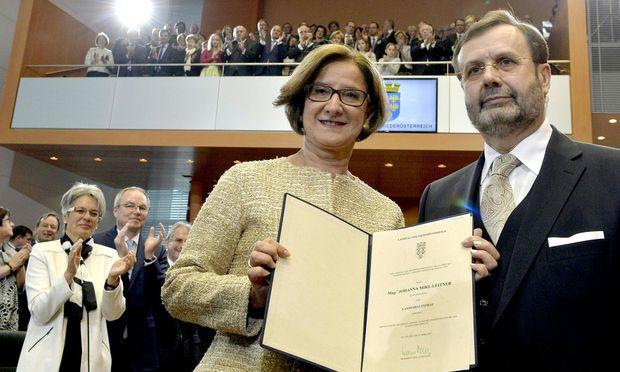 Johanna Mikl-Leitner und Landtagspräsident Hans Penz