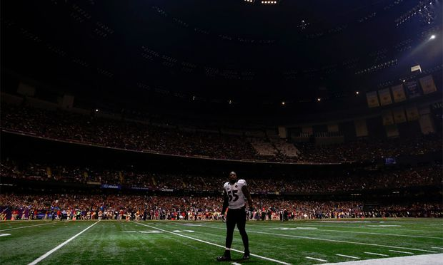 Blackout im Superdome in New Orleans.