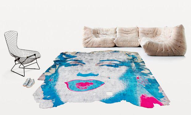 Organisch. Motive von Andy Warhol auf handgeknüpften Teppichen von Calle Henzel.