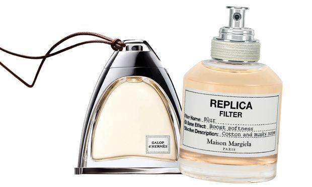 """Ausritt. """"Galop d'Hermès"""", 50 ml Parfum um 225 Euro. """"Replica Filter Blur"""", 50 ml Duftöl um 60 Euro."""