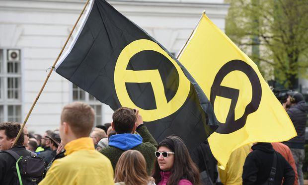 Themenbild: Demonstration der Identitären in Wien.