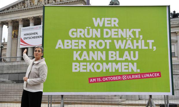 Grünes Wahlplakat