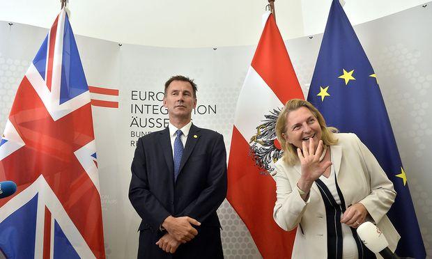 Jeremy Hunt zu Besuch in Wien.