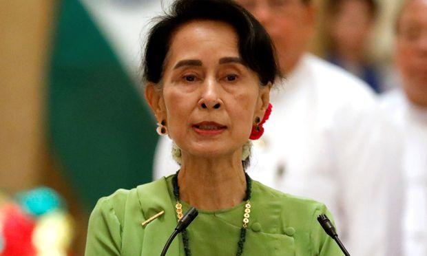 Drückt sich vor der UNO: Aung San Suu Kyi.